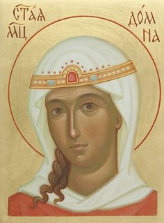 Aγ.Δομνα ( Icon of St Domna - Hand-Painted Icon from the Workshop of St. Elisabeth Convent…