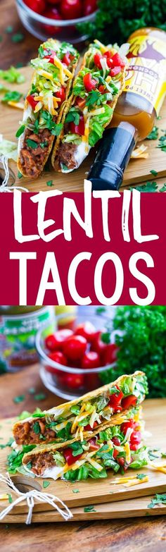 These gluten-free lentil veggie tacos are perfect for vegans, vegetarians, or anyone looking to cut back on meat. Meatless Monday and Taco Tuesday just got even better! We love these fast and healthy tacos!