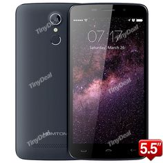 """Presell HOMTOM HT17 5.5\"""" HD MTK6737 64-bit Quad-core Android 6.0 4G Phone 1GB RAM 8GB ROM 13MP CAM Touch ID P05-HT17"""