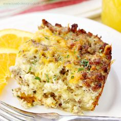 Sausage Egg & Waffle Breakfast Casserole | Love Bakes Good Cakes