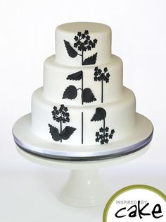 Black and White Blossom - Cake by Inspired by Cake - Vanessa