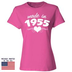 61st birthday gift for women Made in 1955 T Shirt by TShirtTagged