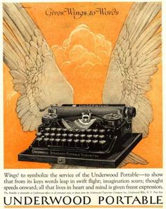 Underwood Portable Typewriters Equipment, USA (1922)  @Kristin Skees