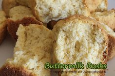 Buttermilk rusks (karringmelkbeskuit).  It tastes wonderful with a cup of coffee, or just on it's own...
