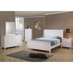 Gomez Deluxe 4 Piece Bedroom Set (Gomez Deluxe 4 PC Full Set),