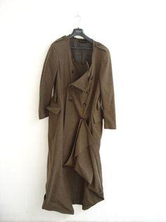 Clothing items by Comme des Garçons designer Rei Kawakubo.