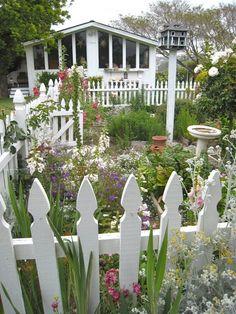 An inside shot of this lovely garden. I  Susan Branch. backyard-farming