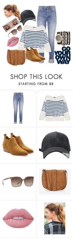 """Go Your Own Way"" by rileydutro ❤ liked on Polyvore featuring Yves Saint Laurent, J.Crew, Kendall + Kylie, Dolce&Gabbana, Express, Lime Crime, Francesca's and Jessica Carlyle"
