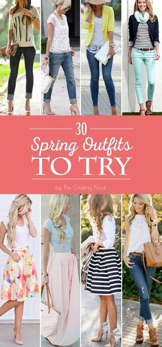 Get lot's of inspiration with these 30 Cute Spring Outfits to Try this year!!!