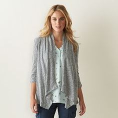 Women's SONOMA Goods for Life™ Draped Flyaway Cardigan