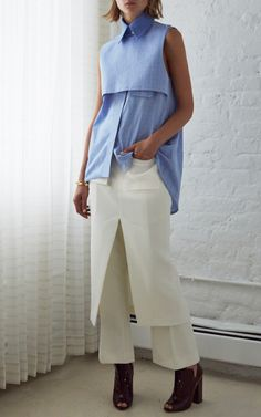 Blue And Pale Blue Danube Shirt by Ellery for Preorder on Moda Operandi