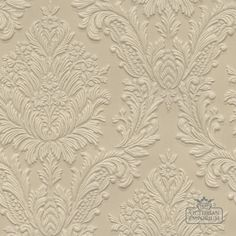 Buy Lincrusta Wallpaper - Anaglypta and Lincrusta Wallpaper - 1 roll of Lincrusta paper incorporating large flower and leaf design White Textured Wallpaper, Paintable Textured Wallpaper, Embossed Wallpaper, Wallpaper Decor, Home Wallpaper, Victorian Wallpaper, Pooja Room Design, Stair Decor, Damascus