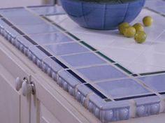 Colorful Ceramic Tile Countertop