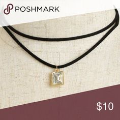 NEW! Double Chain Stone Choker Necklace Beautiful double chain choker necklace featuring a stone gem. Perfect for those upcoming holiday parties or a night out! Jewelry Necklaces