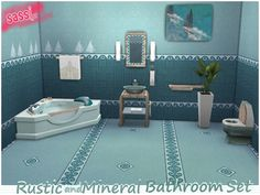 sassitsr's Rustic and Mineral Bathroom Set