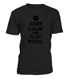 Keep calm and play Pool Kids Shirts