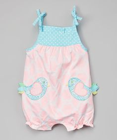 Look at this Mud Pie Pink & Blue Little Chick Bubble Romper - Infant on #zulily today!