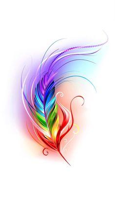 Feather Art, Feather Tattoos, Body Art Tattoos, Sleeve Tattoos, Purple Butterfly Tattoo, Owl Tattoo Drawings, Images Noêl Vintages, Geometric Sleeve Tattoo, Rainbow Tattoos