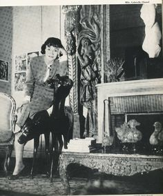 1954 harpers bazaar | Coco Chanel article and image discussing her comeback, very historical ...
