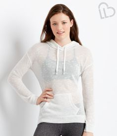 LLD Long Sleeve Sparkle Knit Popover Hoodie - Aéropostale®