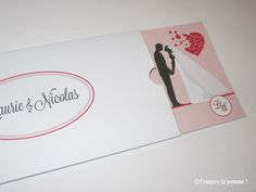 Faire-part Mariage romantique nude rose poudré  Wedding Invitation Sur-mesure par Croquez la pomme !