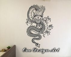Chinese Epic Dragon wall decal vinyl decor home mural arts sticker beast flying Y158