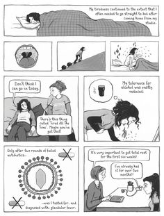 """Graphic memoir written and illustrated by Paula Knight - click on image to view more from this series """"The Facts of Life"""" about not being able to have children - #MyalgicEncephalomyelitis #ChronicFatigueSyndrome #MECFS #MillionsMissing"""