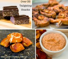 Tailgating (snacks): Over 35 ideas for tailgating food! From appetizers to main dishes to desserts!  Come and get it!