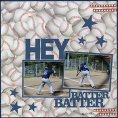 baseball Sports Scrapbook Layouts - Bing Images