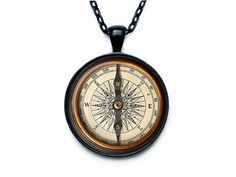 Steampunk compass pendant  ART PRINT by outofspacejewelry on Etsy, $13.75
