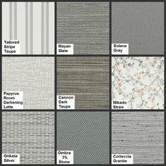 Gray Home Decor - New Roman Shade Fabrics http://blog.3dayblinds.com/new-roman-shade-fabrics-3-day-blinds/