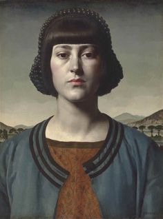 Portrait of Hermione. Gerald Leslie Brockhurst (English, 1890-1978). Oil on panel.