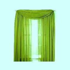 "LIME GREEN 60"" WIDE x 216"" LONG SHEER WINDOW SCARF by Royal. $10.40. 100% polyester. Machine washable. 60"" wide x 216"" long. 60"" wide x 216"" long window scarf in lime green"