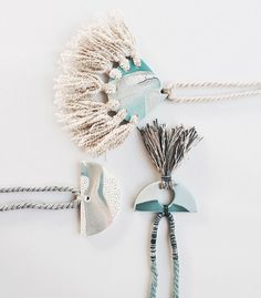 amazing handmade jewelry with tassels and clay by Kelaoke  see more on jojotastic.com