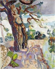 Artwork by Isaac Grünewald, Den gamla tallen, Made of Oil on canvas