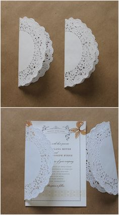 "Another simple and easy addition to your invitation, especially great for a ""Save the Date"" or wedding, is to tie the couple's initials onto it! Description from linenlaceandlove.com. I searched for this on bing.com/images"