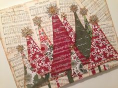 Christmas Tree EASY Mixed Media Canvas                                                                                                                                                                                 More