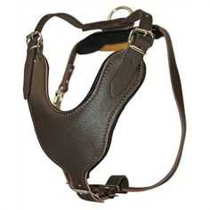 The Leather Basic Leather Dog Harness is suitable for large dogs over 50 lbs., a leader in functionality and style; it is a head turner when walking your big dog down the street.