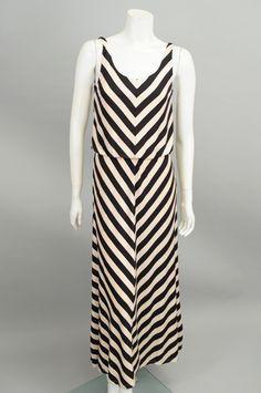 Black Chevron Design Maxi Dress #sageclothing