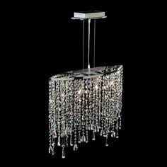 ACHICA | Aimbry Crystal Dining Bar Electrified Pendant