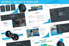 Sporta - Keynote Presentation Template by SlideFactory on Envato Elements Presentation Design Template, Design Templates, Professional Business Card Design, Pricing Table, Image Layout, Media Logo, Meet The Team, Business Brochure, Keynote Template