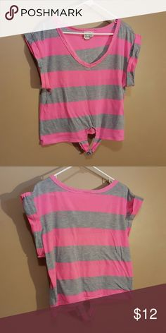 Pink and Gray Crop Top This is a pink & gray crop top. This top has only been worn a handful of times, and in excellent used condition. Clean & free of stains!  Chest measurement: 22inches. Length [shoulder to bottom]: 20inches.  Coming from a pet friendly house! Reasonable offers accepted or countered. Pretty Rebellious Tops Crop Tops
