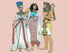 Resultado de imagen de vestimenta en antiguo egipto