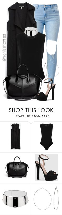 """Onyx"" by highfashionfiles ❤ liked on Polyvore featuring Zara, Donna Karan, Givenchy, Gucci, Giuseppe Zanotti and Phyllis + Rosie"