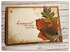 Vintage Leaves is the set for this week's challenge at What Will You Stamp…