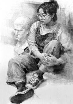 연필 초상화 Teacher& suggested work / painting of human body / sketch of human body / sketch of pencil Deutsch Erfassen Sie Unsterblichkeit mit Alben . Human Body Drawing, Human Figure Drawing, Human Art, Life Drawing, Human Figure Sketches, Figure Sketching, Pencil Portrait, Portrait Art, Pencil Art Drawings
