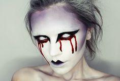 maquillage halloween simple yeux regard effrayant même pour morts