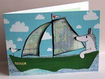 Segelboot Wellen Geldgeschenk Karte Boot Geldkarte
