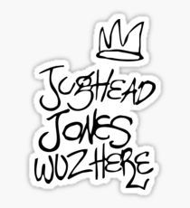 Riverdale - Jughead Jones Wuz Here (Black version) - Archie Comics Sticker - school supplies decor