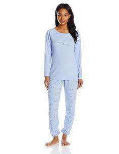 Hue Sleepwear Women's Classy Scotty Thermal Pajama Set - http://darrenblogs.com/2015/12/hue-sleepwear-womens-classy-scotty-thermal-pajama-set/